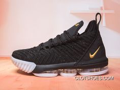low priced 608ba 66c1d Nike LeBron 16 Black Gold-White New Year Deals