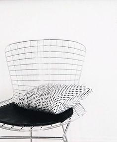 Via Tiny Wild Things | Bertoia Side Chair | Black and White