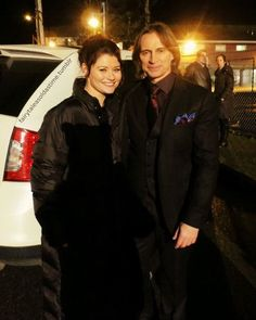 Emilie de Ravin & Robert Carlyle, Once Upon a Time bts