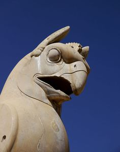 Homa, a Legendary Bird, Sculpture in Persepolis | New Zealand Based Travel Photographer Amos Chapple Captures an Intimate Look into Life Inside Iran.