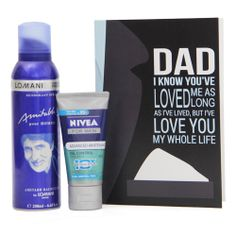 Stay fresh throughout the day with this 200 ML Amitabh Bachchan Pour Homme Deodorant for men from the house of Lomani. This combo also comprises of a 50 ML Nivea advanced whitening cream and specially designed greeting card for your dad. http://www.giftsbymeeta.com/lomani-deo-n-nivea-cream-gifts2302