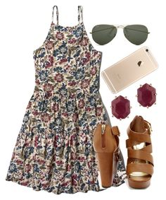 """""""Take me to the party"""" by so-preppy ❤ liked on Polyvore featuring Abercrombie & Fitch, Kendra Scott and Ray-Ban"""