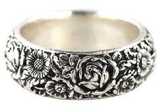 Repoussé Sterling Silver Floral Bracelet – Yourgreatfinds