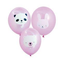 6,95 € http://www.lafolleadresse.com/un-air-de-fete-/3881-set-de-6-ballons-animaux-mignons-roses-a-little-lovely-company.html