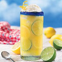 Citrus Vanilla Float-perfect for summer! Can it count as a serving of fruit instead of a dessert?