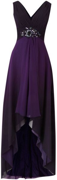 Js Collections Ombre V Neck High Low Beaded Dress @Lyst