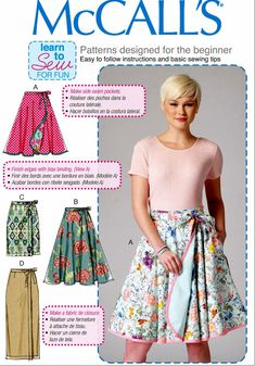 Wrap Skirt Pattern A Learn to Sew Pattern McCall's by blue510