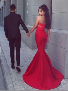 1c04f7c63fd Mermaid sexy sweetheart pleated cut out red prom dress Prom Pics