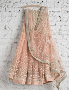There is nothing more beautiful than this peachy pink lehenga #Frugal2Fab