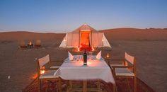Slapen en eten in de woestijn. Wow!