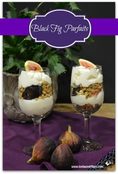 Black Fig Parfaits -