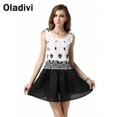 Find More Dresses Information about Flower Embroidered Organza White Black Dresses Preppy Dress Fashion Clothing 2015 Sleeveless O Neck Sundress Vestidos Femininos,High Quality dress flirt,China clothing london Suppliers, Cheap clothing labels for kids from Oladivi Group - Minabell Fashion Store on Aliexpress.com