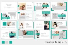 More Product - Softly - Powerpoint Template - Foliage Presentation Template - Minimal Powerpoint Template - Lalina Powerpoint Template - Ailie Powerpoint Cool Powerpoint Templates, Powerpoint Slide Designs, Professional Powerpoint Templates, Powerpoint Themes, Powerpoint Template Free, Creative Powerpoint, Presentation Design, Presentation Templates, Best Free Fonts