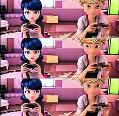 Omg, am I the only one who freaked out when I noticed Adrien looked at Mari first?!