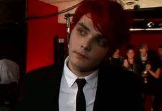 Gerard Way batting his eyelashes like the pretty pretty punk rock princess he is
