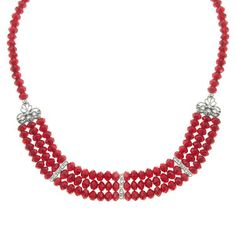 1928 Jewelry - one of my favs.   Evening rich cut brilliant red beaded necklace.