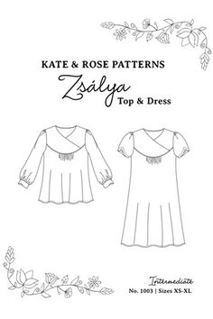 Zsalya by Kate & Rose Pattern Preview 1 | Indiesew.com