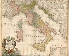 Homann Heirs, mappa d'Italia, 1752