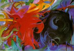 Fighting Forms Artist: Franz Marc Completion Date: 1914 Style: Expressionism Genre: abstract painting Technique: oil Material: canvas Dimens...