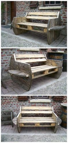 AMZ deco comes back with a new sofa made from repurposed pallets and cable reel! The shape is really original!