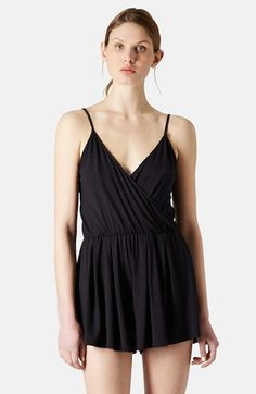 Topshop Faux Wrap Jersey Romper available at #Nordstrom