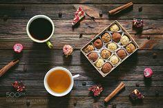 Chocolate truffles tea and coffee love by Arx0nt