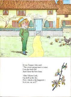 """It was Tommy who said, """"The sweet spring-time is come"""" - Under the Window, 1878 Who Said, Royal College Of Art, Spring Is Coming, London Art, Spring Time, Childrens Books, Vintage World Maps, Poetry, Sayings"""