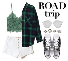 """""""Road Trip Style"""" by tana-a ❤ liked on Polyvore featuring MANGO, adidas Originals, Hollister Co., Monki, Christian Dior, Charlotte Russe and roadtrip"""