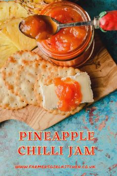 A sweet and spicy chilli relish made with sweet pineapple, ginger, garlic and chilli #pineapple #chilli #chili #jam #relish #recipe #holiday #gift Best Chilli Recipe, Easy Chutney Recipe, Chilli Recipes, Chutney Recipes, Jam Recipes, Easy Summer Meals, Summer Recipes, Ginger Jam, Chilli Jam