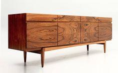 PLASTOLUX — Rosewood credenza (model 66 ) designed by Ib Kofod...