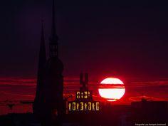 Zu Ehren des #BVB - Glückwunsch übrigens zum 3:0 - der hübsche Sonnenuntergang von heute!