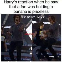 Ooohhh.. Banana makes him happy.