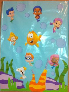 bubble guppies backdrop