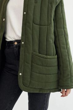 Fall Outfits, Fashion Outfits, Womens Fashion, Work Outfits, Heavy Jacket, Look Man, Types Of Jackets, Jacket Pattern, Quilted Jacket