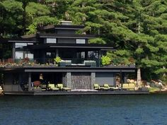 One of my favorite places to visit is Lake Muskoka in Cottage Country, about 2 hours away from Toronto. I LOVE to swim a mile each day along the shore and see the beautiful houses. This would be a spectacular dream home!!!!!