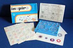 Hlavolam - hračky - Hru Inspiro vyráběl Maják VD Jablonec nad Nisou. K mání byla za Kčs 39,-
