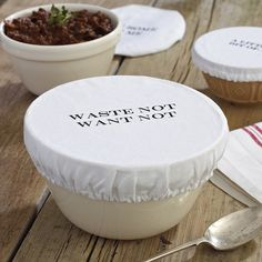 Washable, cotton bowl covers - an eco-friendly alternative to plastic wrap