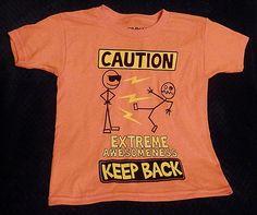 Boys Gildan XS 4/5 Orange Graphic Tshirt #Gildan #Everyday