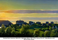 Monegan, Maine by Rockwell Kent on Curiator, the world's biggest collaborative art collection. Rockwell Kent, William Blake, Landscape Art, Landscape Paintings, Landscapes, Monhegan Island, Digital Museum, Paris Art, Journey