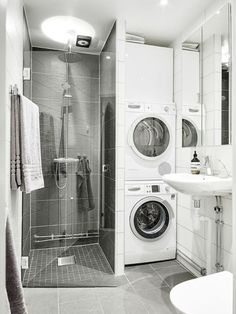 123 Interesting And Detailed Tiny House Bathroom Shower Design Ideas Laundry Bathroom Combo, Laundry Room Storage, Tiny House Bathroom, Downstairs Bathroom, Bathroom Layout, Bathroom Small, Bathroom Ideas, Bathroom Showers, Tiny House Shower
