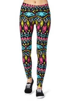 b9fed80078bdb Rue21 Tribal Leggings, Colorful Leggings, Printed Leggings, Rue 21, Sweater  Coats,