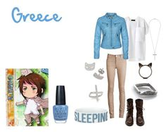 """Greece"" by casualanime ❤ liked on Polyvore featuring rag & bone, Acne Studios, Miss Selfridge, Ileana Makri, OPI, aph, hetalia, aph greece, greece and anime"