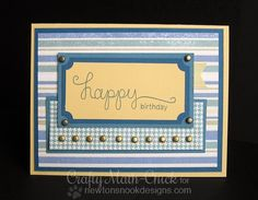 Happy Birthday by Crafty Math-Chick for Newton's Nook Designs | Simply Sentimental Stamp Set