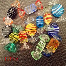 12pcs Vintage Murano Glass Sweet Candy Christmas Tree Ornaments Decorations Gift