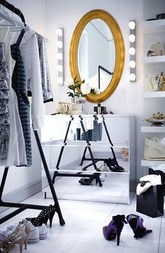 favorite pieces, dressing room.. (The Ikea Malm drawers will soon be released in a limited edition mirrored version.)