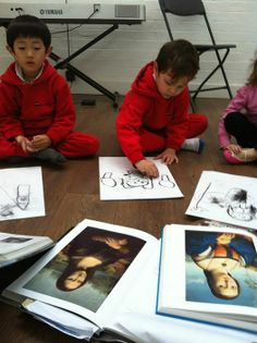 3 House Club, London: art class for children: https://www.facebook.com/photo.php?fbid=831284496897998&set=a.831284173564697.1073741841.439975816028870&type=3&theater class on Renaissance painting - the course compared Leonardo's Mona Lisa and Raphael's Maddalena Doni https://www.facebook.com/media/set/?set=a.831284173564697.1073741841.439975816028870&type=1 http://www.3houseclub.com/