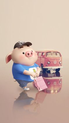 De paseo. Pig Wallpaper, Cartoon Wallpaper, Cute Piglets, Pig Drawing, Baby Pigs, Little Pigs, This Little Piggy, Love Illustration, Cute Wallpapers