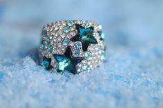 Vintage blue star ring