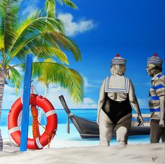 Piraci z Karaibów, wymiary: 100,0 cm. x 100,0 cm. technika: akryl, płótno / 2016/ Paulina Zalewska