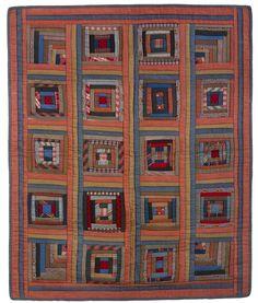 Log Cabin Quilt Top | Mingei | Quilts and Patchwork | Pinterest